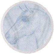 Equus Round Beach Towel