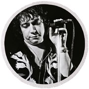 Eric Burdon In Concert-2 Round Beach Towel