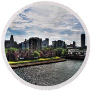 Erie Basin Marina Summer Series 0002 Round Beach Towel