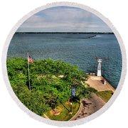 Erie Basin Marina Summer Series 0004 Round Beach Towel