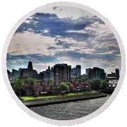 Erie Basin Marina Summer Series 0005 Round Beach Towel