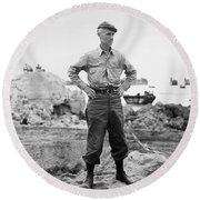 Ernie Pyle (1900-1945). American Journalist. Photograph, C1942 Round Beach Towel