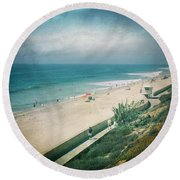 Escape For A Day Round Beach Towel