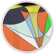 Escaping Conservatism Round Beach Towel