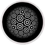 Escher Disc 2 Round Beach Towel