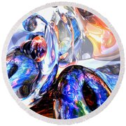 Essence Of Inspiration Abstract Round Beach Towel