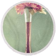 Estillo Vase - S01t04 Round Beach Towel by Variance Collections