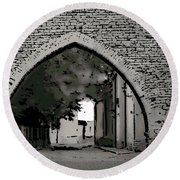 Estonia Old Town Wall Round Beach Towel