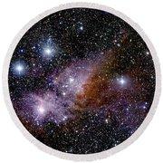 Eta Carinae Nebula, Infrared Image Round Beach Towel