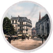 Etablissement Thermal - Aix France Round Beach Towel by International  Images