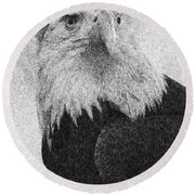 Etched Eagle Round Beach Towel