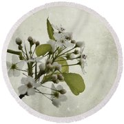Etched In Love Round Beach Towel