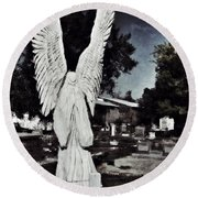 Eternal Angel Round Beach Towel