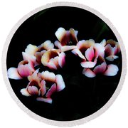 Ethereal Tulips 2 Round Beach Towel