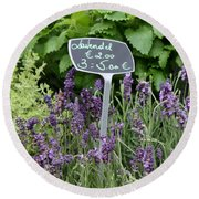 European Markets - Lavender Round Beach Towel