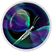 Eve Of The Dragonfly Round Beach Towel