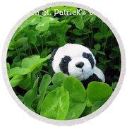 Even Pandas Are Irish On St. Patrick's Day Round Beach Towel