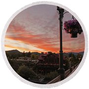 Evening Color Over Taprock Round Beach Towel