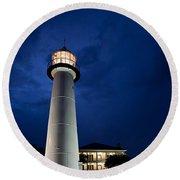 Evening Lighthouse Round Beach Towel