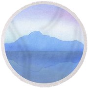 Evening On The Water Round Beach Towel
