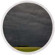 Evening Storm Clouds, Hampton, Prince Round Beach Towel
