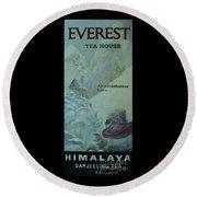 Everest Tea House Round Beach Towel