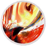 Evil Intent Abstract Round Beach Towel