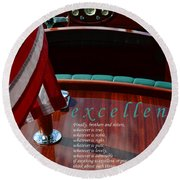 Excellence Round Beach Towel