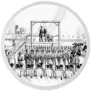 Execution Of John Brown, American Round Beach Towel