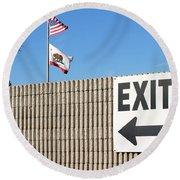 Exit Round Beach Towel