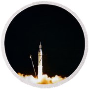 Explorer-1 Launch Round Beach Towel