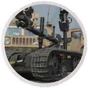 Explosive Ordnance Disposal Robot Used Round Beach Towel