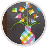 Express It Creatively Round Beach Towel
