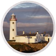 Exterior Of Fanad Lighthouse Fanad Round Beach Towel