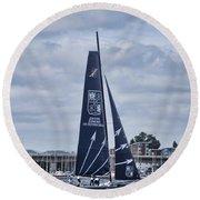 Extreme 40 Team Groupe Edmond De Rothschild Round Beach Towel