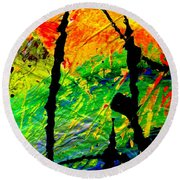 Extreme Ecstasy Round Beach Towel by Angela L Walker