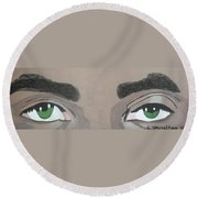 Eyes Round Beach Towel