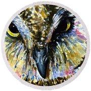 Eyes Of Owl's 13 Round Beach Towel