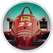 1985 Ferrari 156/85 F1 Nose Round Beach Towel