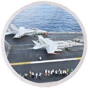 Fa-18 Aircraft Prepare To Take Round Beach Towel