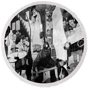 Faber: Mural Painting, C1940 Round Beach Towel