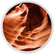 Face In The Canyon Round Beach Towel