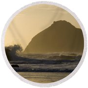 Face Rock 2 Round Beach Towel