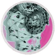 Faced With Doubt Round Beach Towel