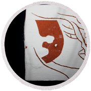 Faces - Tile Round Beach Towel