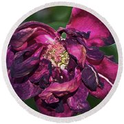 Fading Bloom Round Beach Towel
