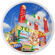 Fair Food Round Beach Towel