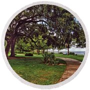 Fairhope Lower Park 2 Round Beach Towel