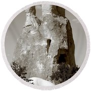Fairy Chimney In Goreme Round Beach Towel