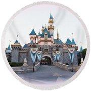 Fairytale Castle Round Beach Towel